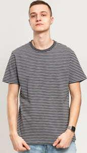 Urban Classics Basic Stripe Tee tmavě šedé / bílé