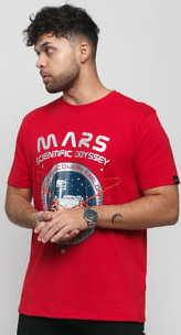 Alpha Industries Mission To Mars Tee červené