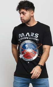 Alpha Industries Mission To Mars Tee černé