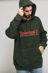 Timberland O-A Hoodie tmavě olivová
