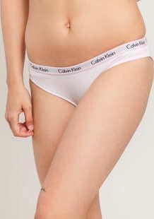 Calvin Klein Bikini - Slip bílé / světle fialové