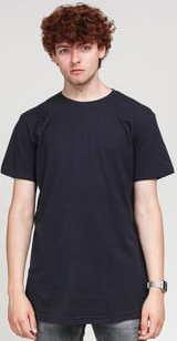 Urban Classics Shaped Long Tee navy