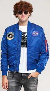 Alpha Industries MA - 1 VF NASA modrá