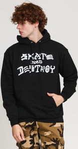Thrasher Skate And Destroy Hood černá