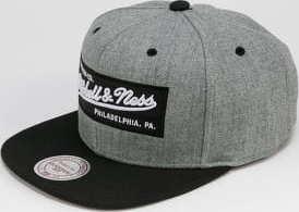 Mitchell & Ness 2 Tone Label Snapback melange šedá / černá