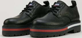 TOMMY JEANS Flag Outsole Lace UP black