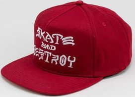 Thrasher Skate And Destroy Snapback červená