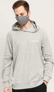 Calvin Klein LS Hoodie C/O melange šedá
