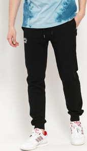 RUSSELL ATHLETIC Arch Logo Cuffed Leg Sweatpants černé