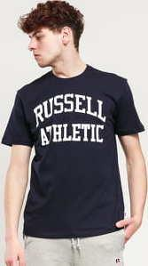 RUSSELL ATHLETIC Arch Logo T-Shirt navy