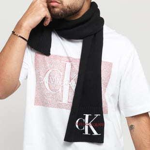 CALVIN KLEIN JEANS Basic Women Knitted Scarf černá