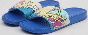 Pink Dolphin Portrait Slide blue