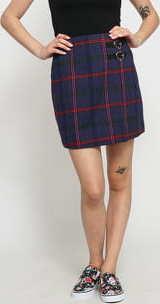 LAZY OAF Getting Plaid Kilt Skirt fialová / růžová / červená / zelená
