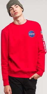 Alpha Industries Space Shuttle Sweater červená