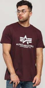 Alpha Industries Basic Tee tmavě vínové