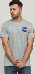 Alpha Industries Space Shuttle Tee melange šedé