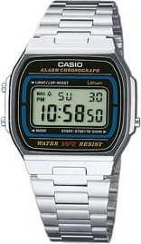 Casio A164WA 1VES stříbrné