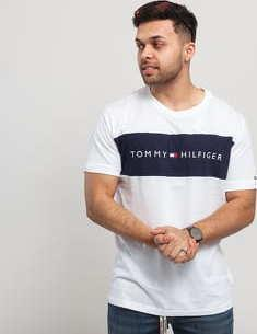 Tommy Hilfiger CN SS Tee Logo Flag C/O bílé