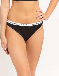 Calvin Klein Thong 3 Pack C/O černé