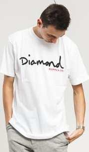 Diamond Supply Co. OG Script Tee bílé