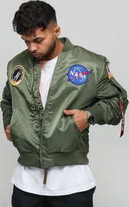 Alpha Industries MA - 1 VF NASA olivová
