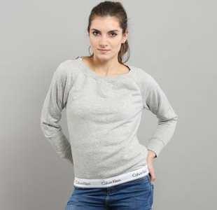 Calvin Klein Top Sweatshirt Long Sleeve C/O melange šedá