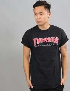 Thrasher Outlined Tee černé