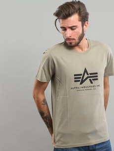 Alpha Industries Basic Tee olivové