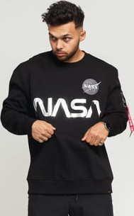 Alpha Industries NASA Reflective Sweater černá / stříbrná