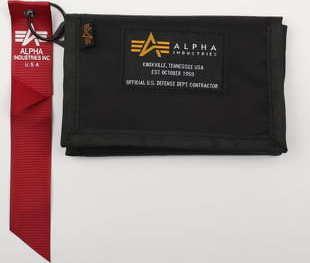 Alpha Industries Crew Wallet černá