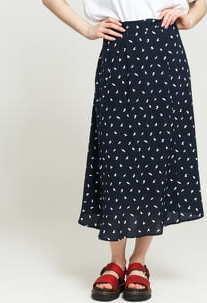EDITED Dafne Skirt navy / bílá