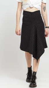 ODIVI Dream Stripe Skirt černá / bílá