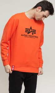 Alpha Industries Basic Sweater oranžová