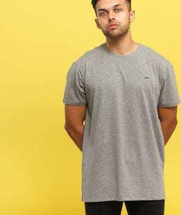 LACOSTE Base T-shirt melange šedé