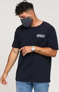 WOOD WOOD Info T-shirt navy