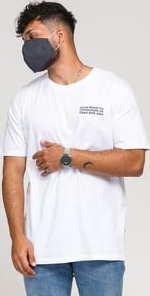 WOOD WOOD Info T-shirt bílé