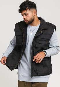 Urban Classics Ranger Vest černá