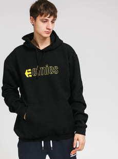 etnies Ecorp Hoodie černá