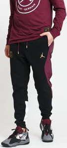 Jordan M J PSG Fleece Travel Pant černé / vínové