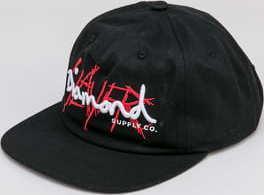 Diamond Supply Co. Diamond X Slayer Unstructured Strapback černá