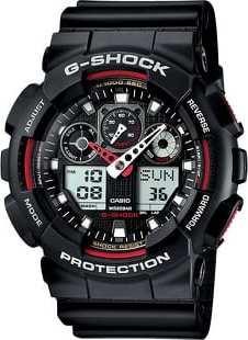 Casio G-Shock GA 100-1A4ER černé / červené
