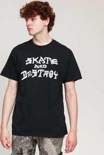 Thrasher Skate And Destroy Tee černé