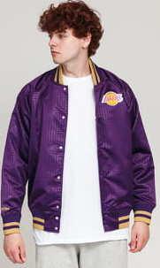 Mitchell & Ness CNY Satin Jacket LA Lakers fialová