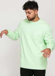 HUF Essentials TT Pullover světle zelená