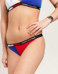 Tommy Hilfiger Bikini - Slip červené / tyrkysové