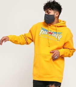 Thrasher Venture Collab Hood tmavě žlutá