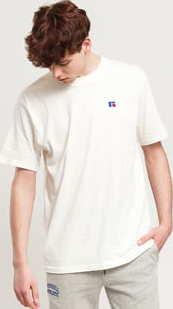 RUSSELL ATHLETIC Baseliner T-Shirt krémové