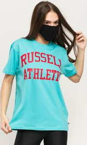 RUSSELL ATHLETIC Arch Logo T-Shirt tyrkysové