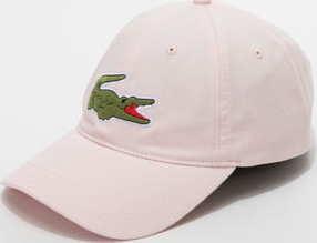 LACOSTE Large Logo Cap světle růžová