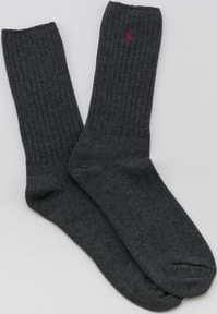 Polo Ralph Lauren Classic Cotton Crew Socks melange tmavě šedé